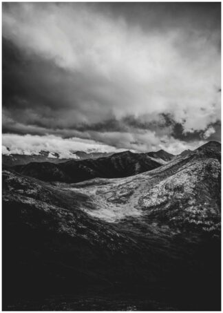 Stormy mountains poster