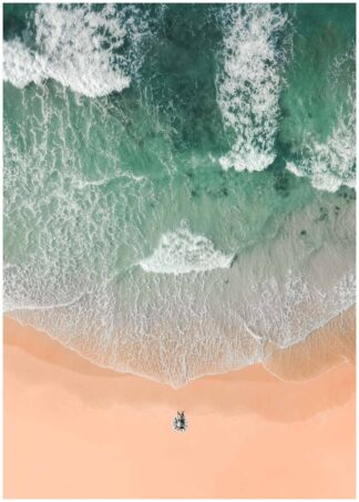 Relaxing at beach poster