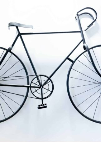 Black and white bicycle poster