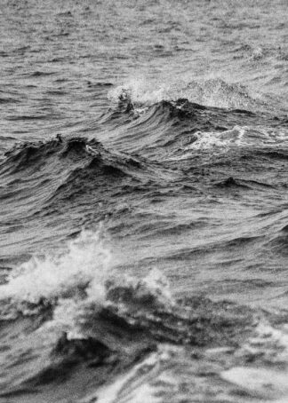 Stormy sea waves poster