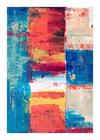 Painted art stripes poster