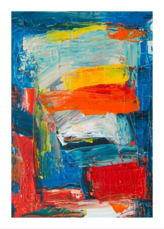 Painted art strokes poster