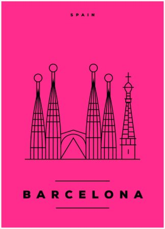 Barcelona illustration poster