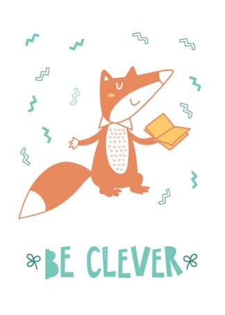 Be clever cartoon poster