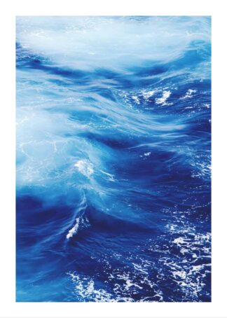 Close up photo of ocean wave poster