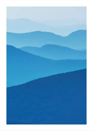 Blue mountain landscape poster