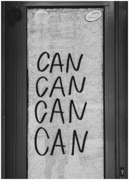 Can can can can motivation poster