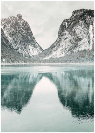 Mountains reflections poster
