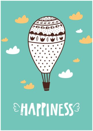 Happiness cartoon poster