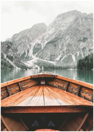 View from a wooden boat poster