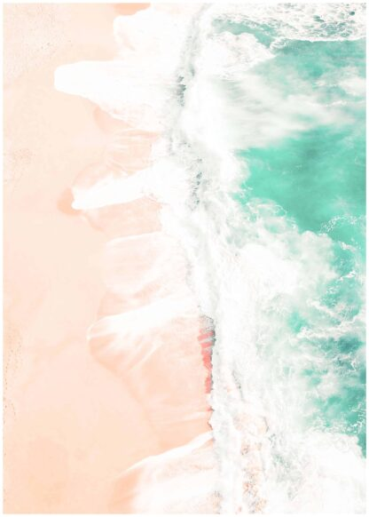 Sand meets water poster