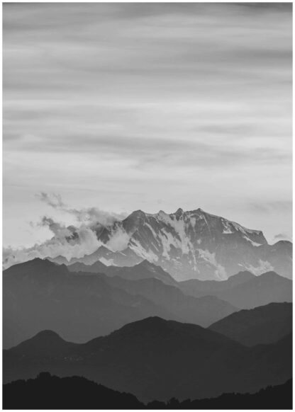 Mountain in distance poster