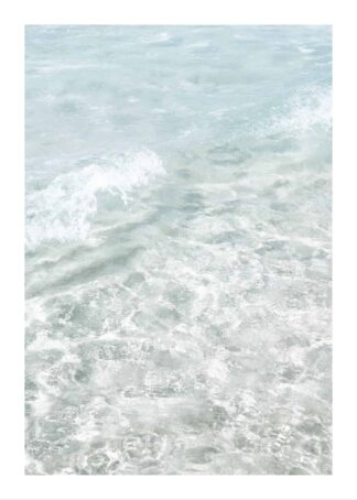 Crystal clear waves poster