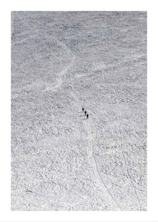 Walking in snow poster