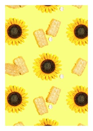 Sunflowers and diamonds poster
