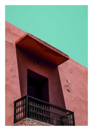 Marrakech balcony poster