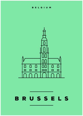 Brussels illustration poster