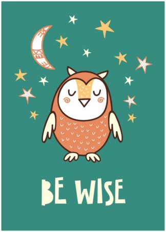 Be wise cartoon poster
