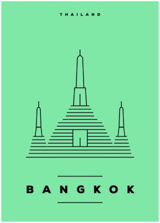 Bangkok illustration poster
