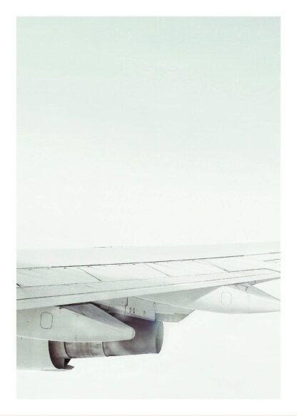 Airplane wing poster