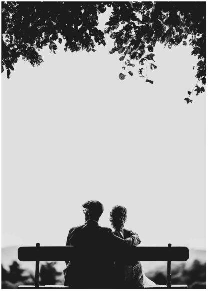 Couple in the park poster