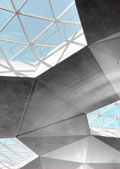 Geometrical roof poster