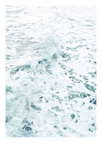 Marble magic ocean waves poster