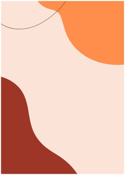 Abstract shape #41 poster