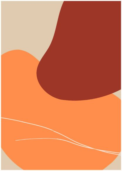 Abstract shape #31 poster