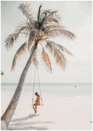 Swing on the beach poster