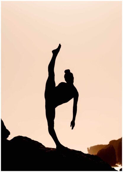 Silhouette gymnastic poster