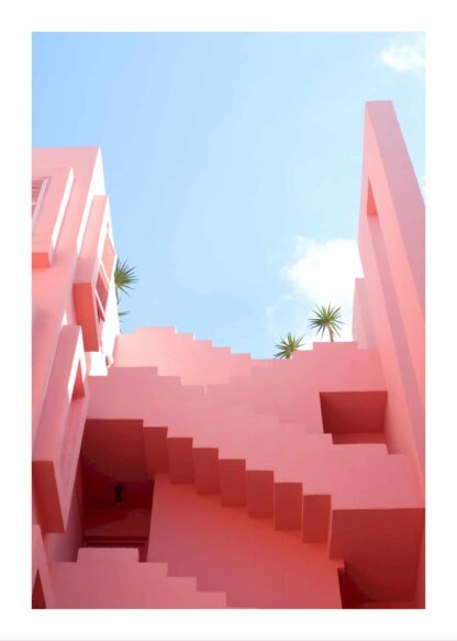 Pink tropical house poster