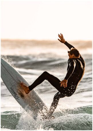 Man surfing poster