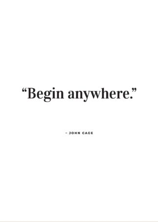 John Cage quote poster