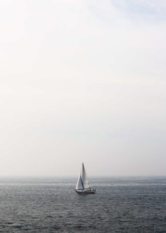 Sailboat in the clouds poster