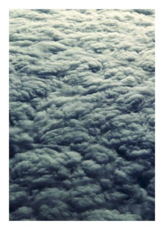 Fluffy grey clouds poster