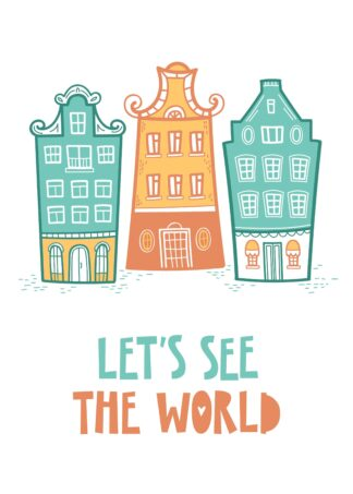 lets see the world cartoon poster