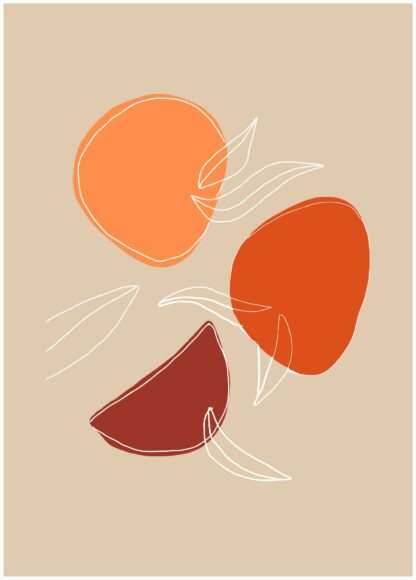 Abstract shape #4 poster