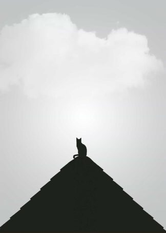 Cat on a roof poster