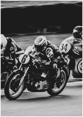 Motorcycle race poster