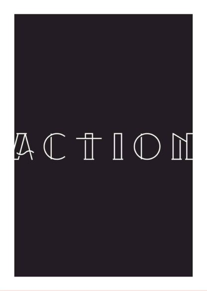 Action motivational poster