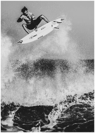 Airborne surfer poster