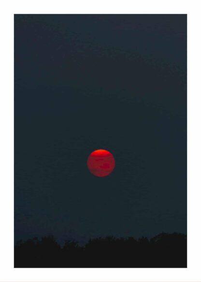 Red moon at night poster