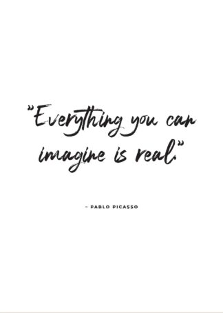 Pablo Picasso inspiring quote poster