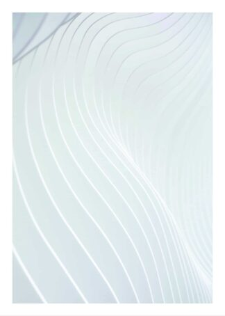 Architectural white waves poster