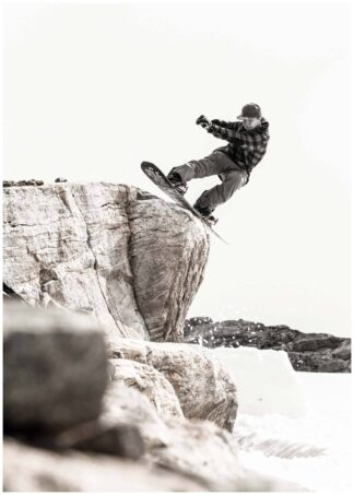 snowboarder jumps poster