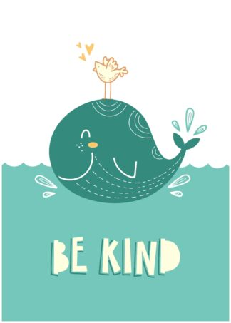 Be kind cartoon poster
