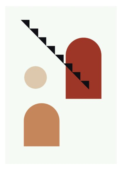 Modern abstract shape #12 poster