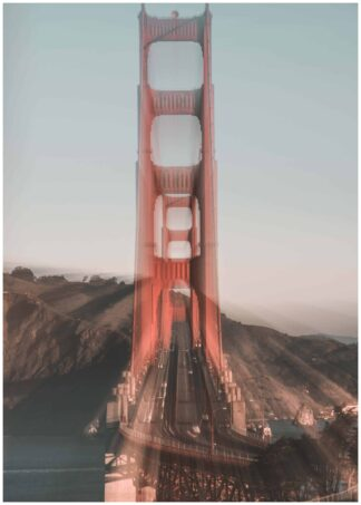 beautiful view golden gate poster