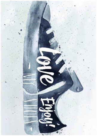 Love enjoy my shoes poster